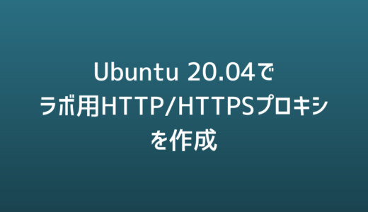 [Ubuntu][20.04] Squidでラボ用HTTP/HTTPS proxyを作る